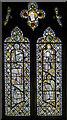 TQ7927 : Medieval stained glass, St Nicholas' church, Sandhurst by Julian P Guffogg