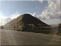 SZ1191 : Bournemouth: sand pile at Boscombe by Jonathan Hutchins