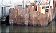 J3674 : Connswater works, Mersey Street bridge - February 2015(2) by Albert Bridge
