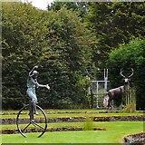 SJ6651 : Garden sculptures for sale by Gerald England