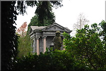 TQ5937 : Mauseleum, Kent and Sussex Cemetery by N Chadwick