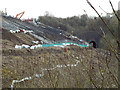 SP3760 : Site of landslip, 31 January 2015, north side of Harbury Cutting by Robin Stott