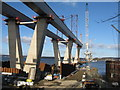 NT1178 : The Queensferry Crossing - southern approach viaduct by M J Richardson