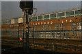 TQ2085 : Neasden Underground works from the Metropolitan Line by Christopher Hilton