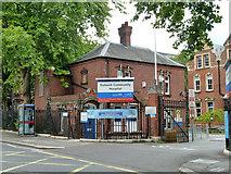 TQ3375 : Gate lodge, Dulwich Community Hospital by Robin Webster