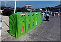 SY6878 : Green recycling bins on The Esplanade, Weymouth by Jaggery