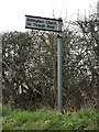 TM4560 : Aldringham Church sign by Adrian Cable