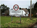 TM3961 : Sternfield Village Name sign by Adrian Cable
