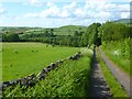 NY5646 : Track and farmland, Kirkoswald by Andrew Smith