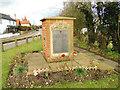 TM2784 : WW1 War Memorial, Wortwell by Adrian S Pye