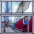 SD7816 : Stained Glass Window Detail, Ramsbottom Library by David Dixon
