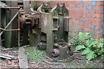 SS6694 : Hafod Works, Landore - ruined steam engine by Chris Allen