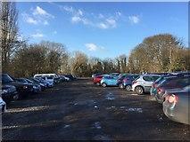 SJ8545 : Newcastle-under-Lyme: London Road Bowling Club car park by Jonathan Hutchins