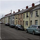 SN9803 : Queen Street houses, Cwmdare by Jaggery