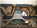 TF5414 : Tilney St. Lawrence church bell by Adrian S Pye