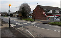 ST3091 : Zebra crossing to a post office inside a Spar, Malpas, Newport by Jaggery