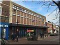 SJ8446 : Newcastle-under Lyme Public Library on Ironmarket by Jonathan Hutchins