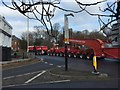 SJ8546 : Newcastle-under-Lyme: escorted heavy load passes through Nelson Place by Jonathan Hutchins