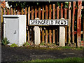 TM4557 : Springfield Road sign by Adrian Cable