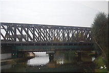 TL1998 : East Coast Main Line Bridge over the River Nene by N Chadwick
