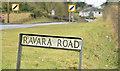 J4263 : Ravara Road name sign, Ballygowan (February 2015) by Albert Bridge