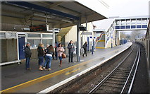 TQ0471 : Staines Station, looking east from charter train by Roger Templeman