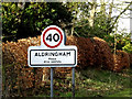 TM4459 : Aldringham Village Name sign by Adrian Cable