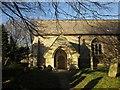 SX2358 : Porch, Church of St Cuby, Duloe by Derek Harper