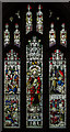 TF0207 : Stained glass window, St John the Baptist church, Stamford by Julian P Guffogg