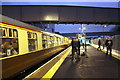 TQ1673 : Evening stop for Pathfinders Tours' charter at Twickenham Station by Roger Templeman