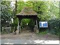 TL6298 : Lychgate to Hilgay church by Adrian S Pye