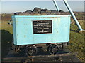 SJ8148 : Apedale Country Park: coal tub memorial by Jonathan Hutchins