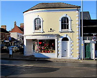 SO6024 : Valentine's Day window display, Like's Florist, Ross-on-Wye by Jaggery