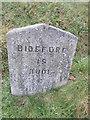 SS2612 : Milestone - Bideford 19 by Adrian Dust