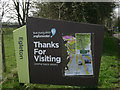 SK8707 : Thanks for Visiting sign by Anglian Water, Egleton near Rutland Water by Robin Stott