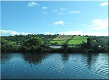 J1022 : View across the Newry Canal and the Newry River towards the Four Green Fields by Eric Jones