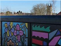 SK4214 : Murals on the Phoenix Green Footbridge by Mat Fascione