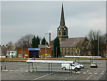 SO9098 : Sainsbury's new car park in Wolverhampton by Roger  Kidd