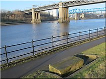 NZ2463 : The River Tyne around the King Edward Bridge by Mike Quinn