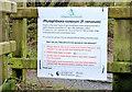 J4477 : Tree disease sign, Cairn Wood, Craigantlet (February 2015) by Albert Bridge
