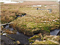 NY8406 : Unusual section of walling near Brownberhead Beck by Trevor Littlewood