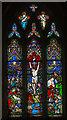 TA1701 : East window, St Nicholas' church, Cuxwold by J.Hannan-Briggs