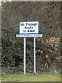 TL6004 : Roadsign on the former A414 Chelmsford Road by Adrian Cable
