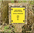 J3763 : Cathodic protection marker post, Killinure near Carryduff (February 2015) by Albert Bridge