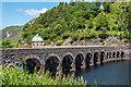 SN9163 : Garreg Ddu Viaduct and submerged dam by Ian Capper