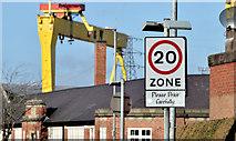 J3674 : 20 mph zone, Mersey Street, Belfast (February 2015) by Albert Bridge