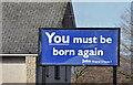 J3674 : Biblical message, Belfast (February 2015) by Albert Bridge