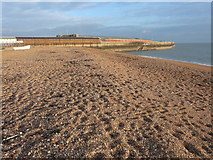 TR3140 : The shingle beach to the west of the Admiralty Pier by John Baker