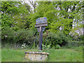 TF8417 : West Lexham village sign by Adrian S Pye