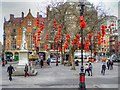 SJ8398 : Chinese New Year Decorations in Albert Square by David Dixon